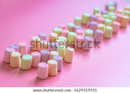 Lettering spring season marshmallow for greeting card, invitation template. template background #1629359935