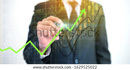 Businessman analysis diagram. Business graph background. financial graph, Stock exchange chart                                #1629525022