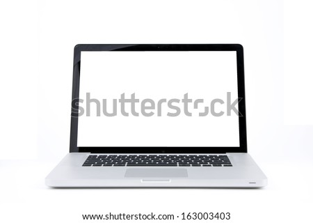 Laptop with white screen #163003403