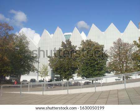 The view on the philharmonic hall in Szczecin, Poland Royalty-Free Stock Photo #1630050199