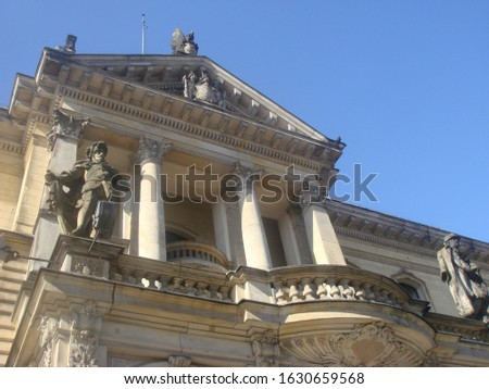 Beautiful architecture of music academy in Szczecin, Poland Royalty-Free Stock Photo #1630659568