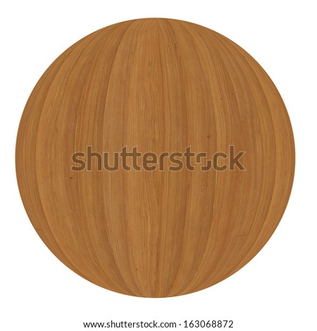 Wooden ball. Isolated render on a white background #163068872