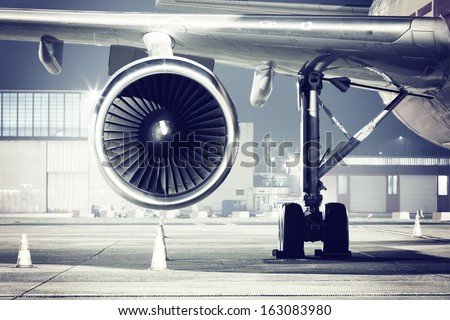 a airplane turbine detail #163083980