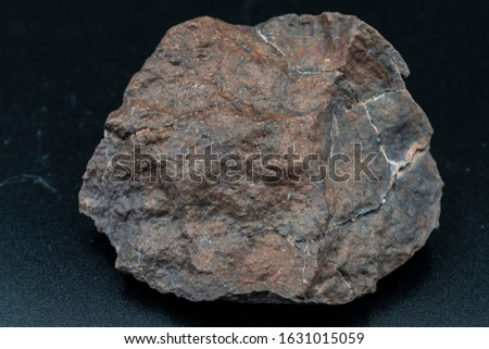 Chondrite Meteorite H Type isolated, piece of rock formed in outer space in the early stages of Solar System as asteroids. This meteorite comes from an asteroid fall impacting Earth at Atacama Desert