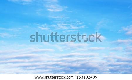 blue sky clouds #163102409