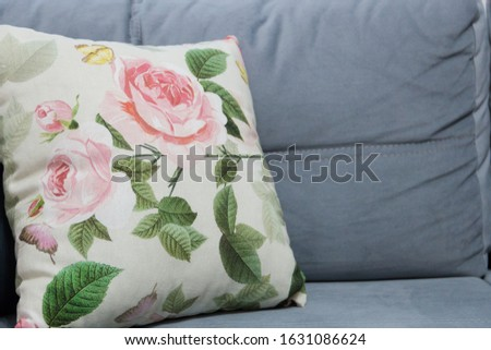 decorative pillows decorating the interior of the living room create comfort in the house, comfort on the sofa #1631086624