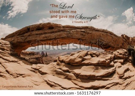 Landscape picture with Bible verse