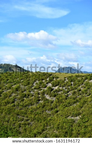 Nature View Of Hilltop And Sky #1631196172
