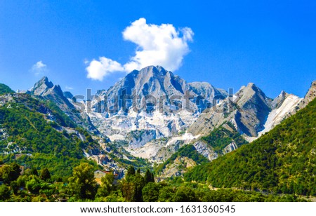 Mountain peak snow landscape. Mountain peak view. Snowy mountain peak scene. Mountain landscape #1631360545
