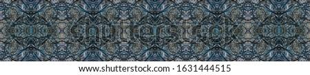 Dark Horizontally seamless design. Ethnic Ornament Print. Ethnic Ornament Print. Black Tile Embroidery print Old fashion Design. Golden Kaleidoscope Pattern Floral Elements Floral Pattern. #1631444515