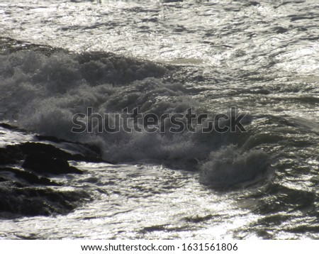 The wild Irish sea mid winter on a cold and windy day #1631561806