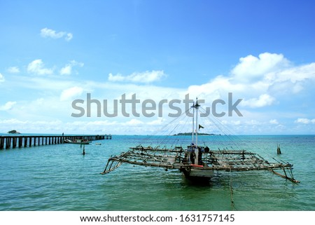 Traditional fishing boat in Indonesia