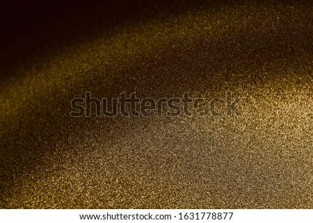 Bronze texture, metallic glitter macro photoshoot