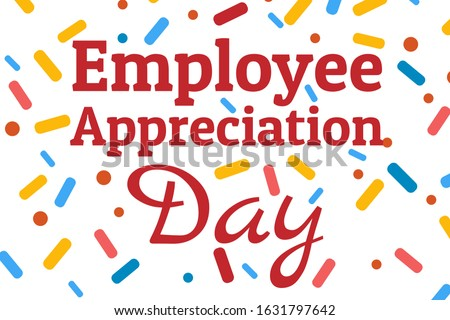 Employee Appreciation Day concept. First Friday in March. Holiday concept. Template for background, banner, card, poster with text inscription. Vector EPS10 illustration Royalty-Free Stock Photo #1631797642