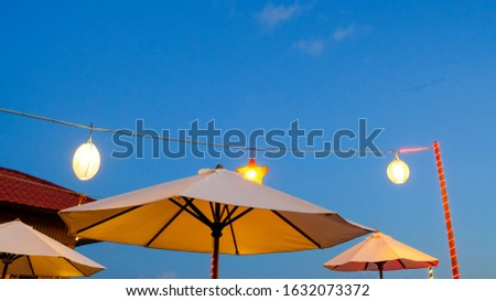 Night Scenery Umbrella Tent Latern Hanging Star Lamp #1632073372