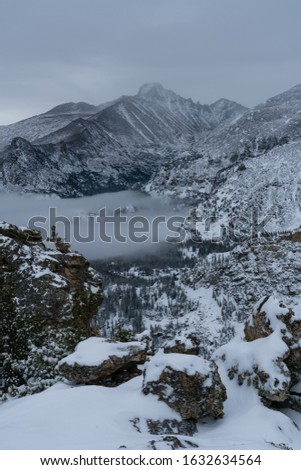 From the Flattop Mountain Trail.  Estes Park, Colorado. #1632634564