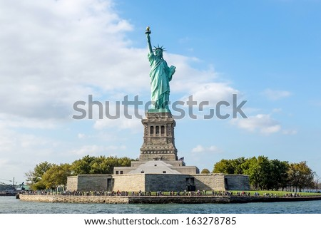 The Statue of Liberty in New York City Royalty-Free Stock Photo #163278785