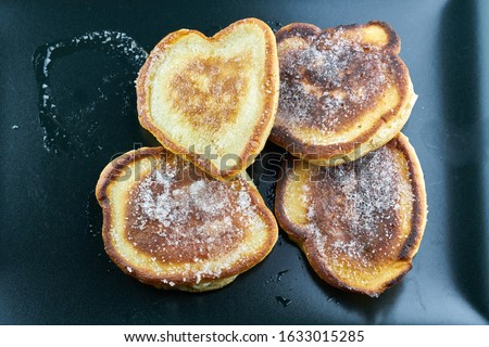 Pancakes with maple syrup. Pancake's Day Royalty-Free Stock Photo #1633015285