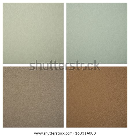 Set from 4 backgrounds of leather texture #163314008