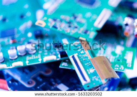 Electronic devices waste ready for recycling #1633203502