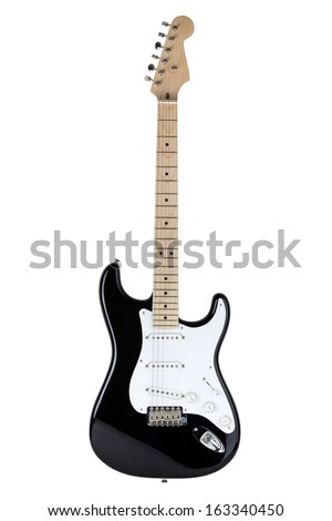 Electric guitar isolated over white background #163340450