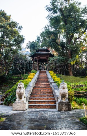 Step stone in park nepal  #1633939066