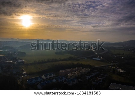 drones pictures waterfall and panorama #1634181583