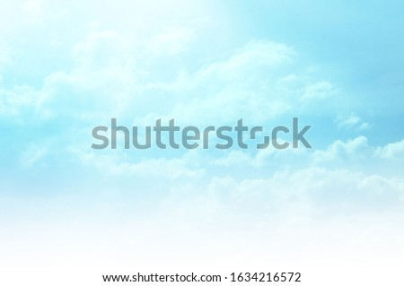 The sky blue skies texture clouds summer day. Colorful beautiful sky colour light background with white clouds. Sunrise sky texture twilight and blue colors. Pattern and textured background.  #1634216572