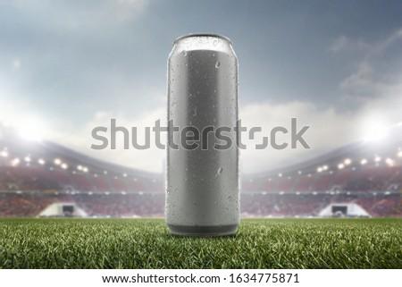 photo of beverage canned put on sports stadium #1634775871