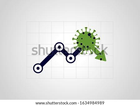 Virus hits market. Shares fall down. Markets plunging. Economic fallout. 2019 Novel Coronavirus outbreak. 2019-nCoV. Covid-19. #1634984989