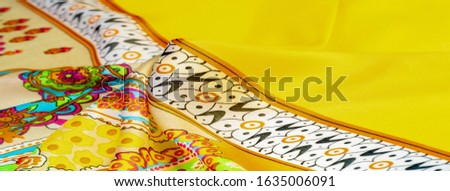 Texture, background, paisley silk fabric, Indian themes ornate traditional paisley elements with ethnic details in a bohemian print, decorative fabric for your design and accents projects, multicolor #1635006091