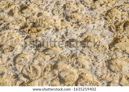 Wet, loose sand at the racetrack.Sand at the racetrack. #1635259402