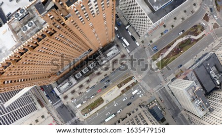 Downtown Detroit Straight Down Aerial photo of Guardian Building