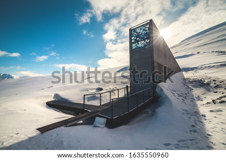 The Seed Vault in the Arctic province of Norway, Svalbard. #1635550960