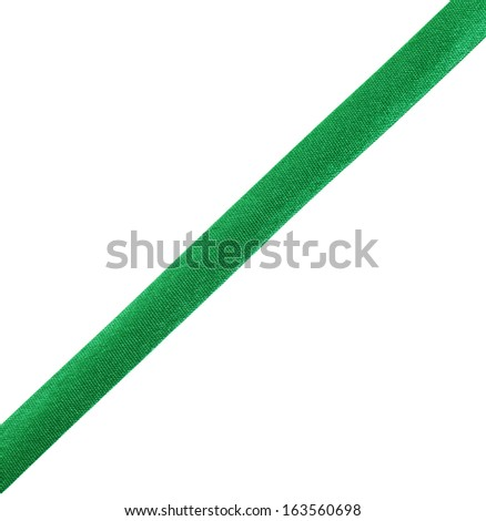 green ribbon isolated on white background #163560698