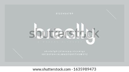 Minimal font creative modern alphabet. Typography with dot regular and number. minimalist style fonts set. vector illustration #1635989473