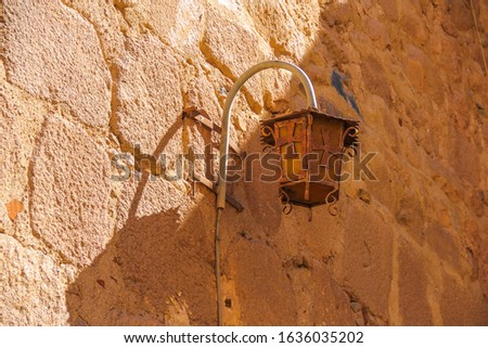 Ancient lantern in the ancient monastery of Egypt #1636035202