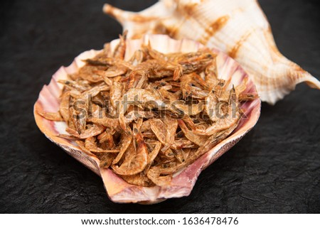 Dried shrimps that are sun-dried for preservation purposes. Used in many Asian cuisines as dry seafood. Preserving food by drying with sunlight #1636478476