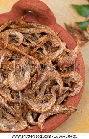 Dried shrimps that are sun-dried for preservation purposes. Used in many Asian cuisines as dry seafood. Preserving food by drying with sunlight #1636478485