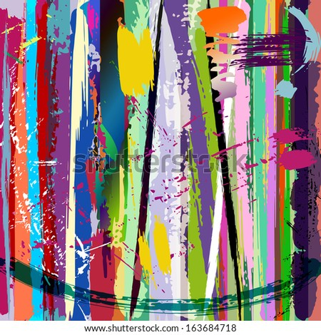 abstract background, with paint strokes and splashes #163684718