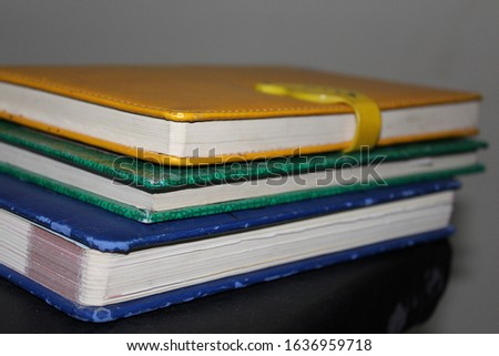 Yellow and Blue Books in shelf method with amazing way.....