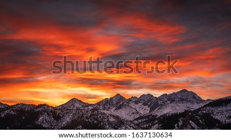 Winter in Tatra Moutains in Poland. High Tatras landscape photos. #1637130634