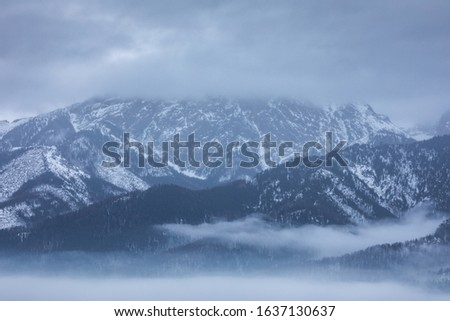 Winter in Tatra Moutains in Poland. High Tatras landscape photos. #1637130637