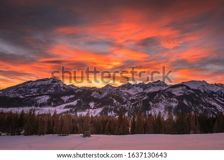 Winter in Tatra Moutains in Poland. High Tatras landscape photos. #1637130643