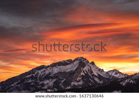 Winter in Tatra Moutains in Poland. High Tatras landscape photos. #1637130646