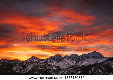 Winter in Tatra Moutains in Poland. High Tatras landscape photos. #1637130652
