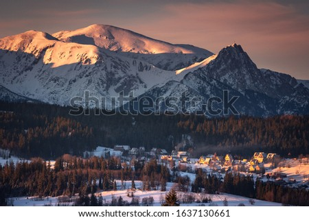 Winter in Tatra Moutains in Poland. High Tatras landscape photos. #1637130661