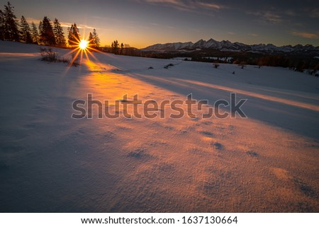 Winter in Tatra Moutains in Poland. High Tatras landscape photos. #1637130664