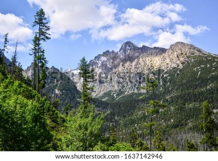 The High Tatras Mountains (Vysoke Tatry, Tatry Wysokie, Magas-Tatra), are a mountain range along the border of Slovakia in the Presov Region, and southern Poland  #1637142946