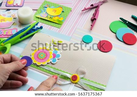 Making a scrap booking easter wish card/Scrapbook, Craft, Art #1637175367